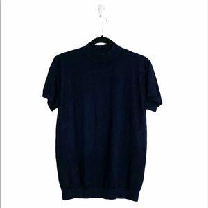 Zara mock neck short sleeve top medium